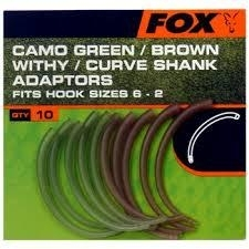 Fox Camo Green/Brown Withy/Curve Shank Adaptors