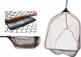 Savage Gear Pro Folding  Rubber Mesh Tele Landing Net Large/XL