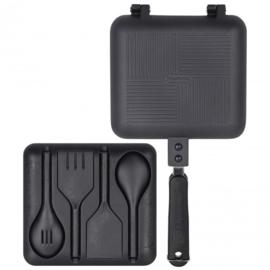 Ridgemonkey Deep fill sandwich toaster XL black (incl utensil set)