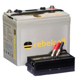 Rebelcell HS Predator 24V  Pakket ( 24V-50Ah Accu met 29.4V-12Ah Lader