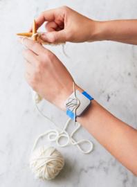Cocoknits Knitters Keep Bracelet Orange