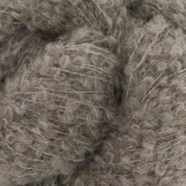 Alpaca bouclé mittelbraun