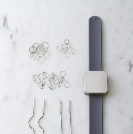 Cocoknits Knitters Keep Bracelet Grey