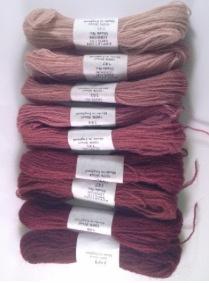 Dull rose pink crewel wool 141-149