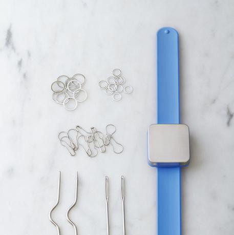 Cocoknits Knitters Keep Bracelet Blue