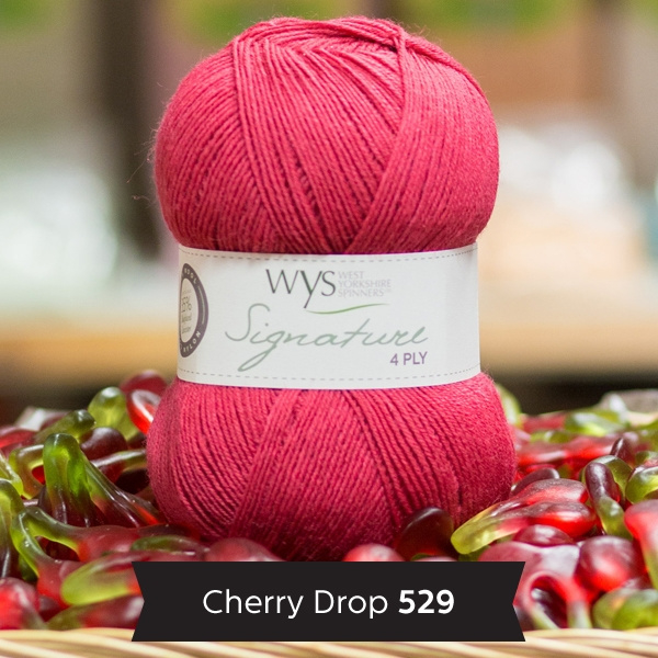 WYS 4ply Sock cherry drop