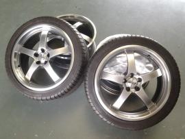 4x Velg Dotz, 18 inch, 5x112 met 2 nieuwe gemonteerde banden