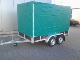 Aanhangwagen tandemasser met huif Afmetingen 307x157x180