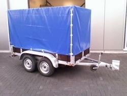 Aanhangwagen tandemasser met huif Afmetingen 257x132x150