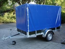 Aanhangwagen met huif Afmetingen 200x132x150