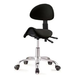 Ergonomische stoel met rugleuning Zwart