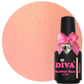 Diva | Rubber base Dark Peach Shimmer 15ml