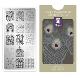 Moyra | Mini Stampingplate #106 Such a Strange Girl