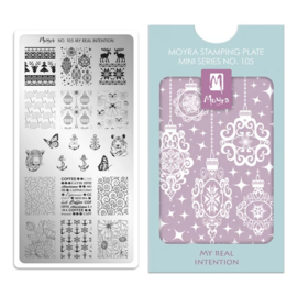 Moyra | Mini Stampingplate #105 My Real Intention