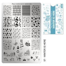 Moyra | Stampingplate #57 Winter Is Here