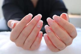 French Manicure met Sjablonen