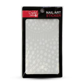 CN | Nail Sticker (CB-066) White Snowflake