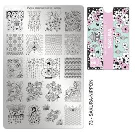 Moyra | Stampingplate #73 Sakura