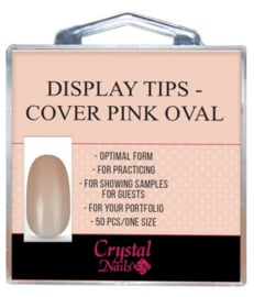 CN | Display tips - Cover Pink Oval 50 stuks