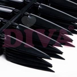 Diva | Showtips Stiletto 240 stuks - ZWART