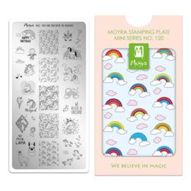 Moyra | Mini Stampingplate #120 We believe in Magic