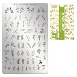 Moyra | Stampingplate 79 - Green Leaves