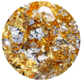 Diva | Metallic Foil Flakes Gold & Silver  5gram