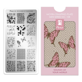 Moyra | Mini Stampingplate #108 Sounds of your World
