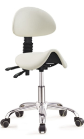 Ergonomische stoel met rugleuning WIT