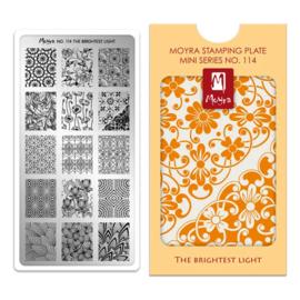 Moyra | Mini Stampingplate #114 The Brightest Light