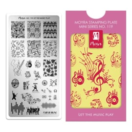 Moyra | Mini Stampingplate #119 Let the Music Play