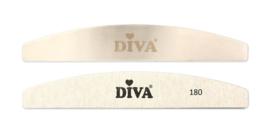 Diva | Hygiene Half Moon Systeem zebra Vijlen 180 grit 25pcs incl metal handle