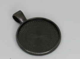 Medaillon - Rond zwart