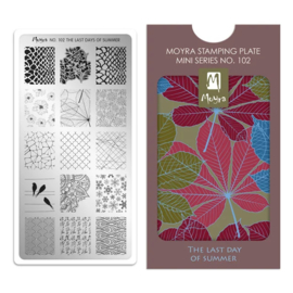 Moyra | Mini Stampingplate #102 The Last Days of Summer