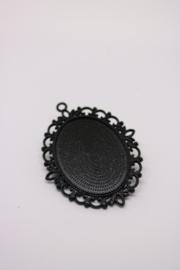 Nailart Medaillon Zwart