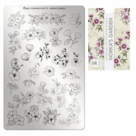 Moyra | Stampingplate #75 - Norka's Garden