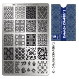 Moyra | Stampingplate #43 Damask Drapery