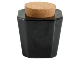 Dappendish met kurk Zwart