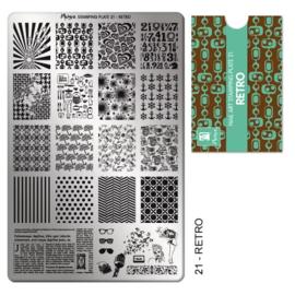 Moyra | Stampingplate #21 Retro
