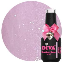 Diva | Rubber base Mauve Sparkle 15ml