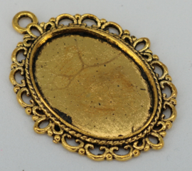 Medaillon - Ovaal ornament goud