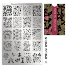 Moyra | Stampingplate #63 Baroque Garden