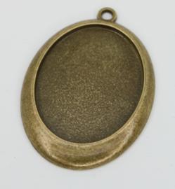 Medaillon - Ovaal gouden rand