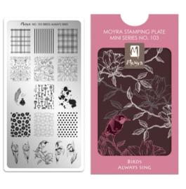 Moyra | Mini Stampingplate #103 Birds Always Sing