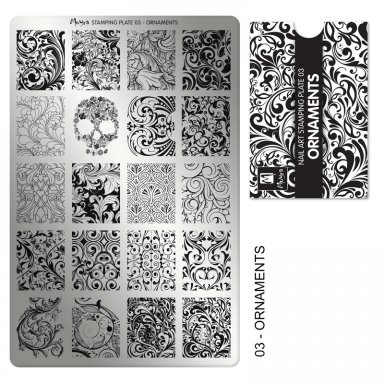 Moyra | Stampingplate #3 Ornaments