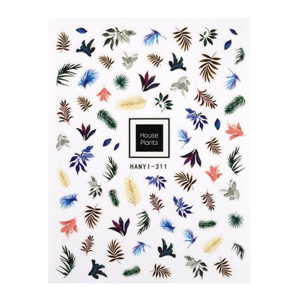 CN | Nail Sticker Dark Leaves (Hanyi-311)