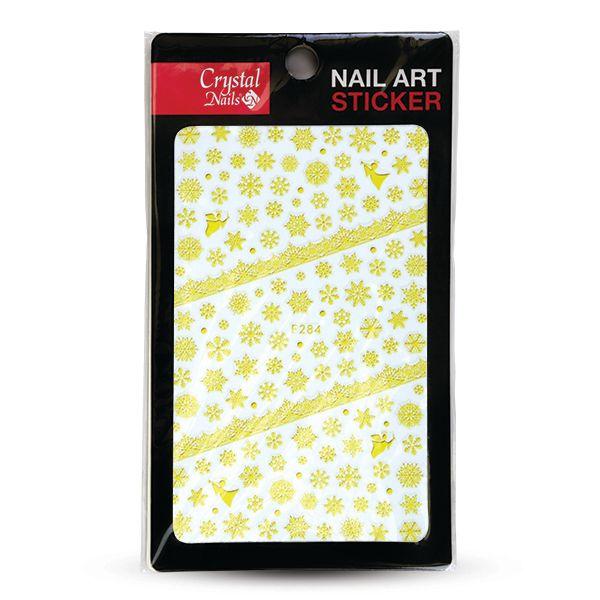 CN | Nail Sticker (F284) Gold Snowflake