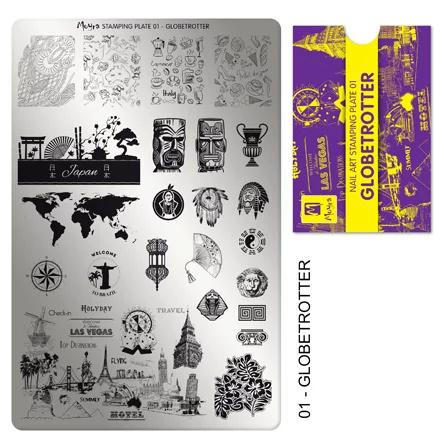 Moyra | Stampingplate #1 Globetrotter