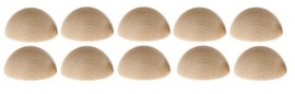 Halve Klinknagel bolletjes 15 mm per 10 stuks
