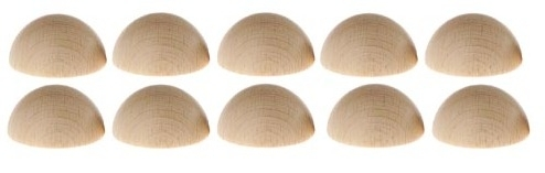 Halve Klinknagel bolletjes 30 mm per 10 stuks